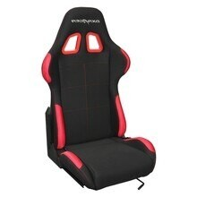 DXRACER Semibaquet black & Red - Fabric